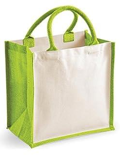 Natural Westford Mill Unisex wm411natu wm411/Jute Petite Geschenk Bag One Size