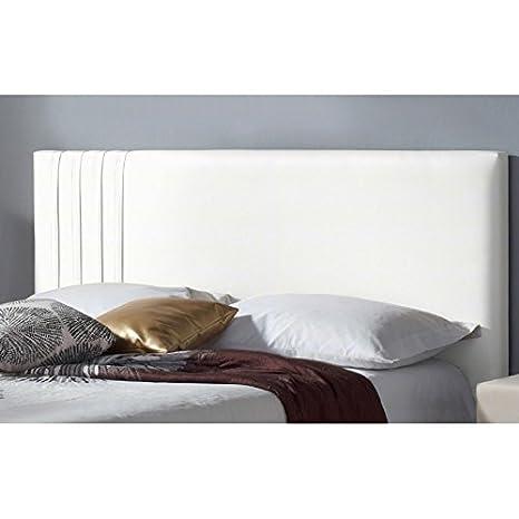testata del letto in similpelle modello lines bianco lit de - Lit En 120 Cm De Large