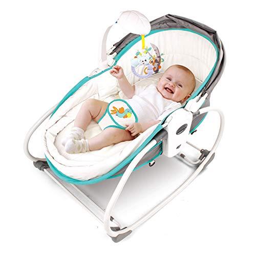 Babify Hamaquita Cuna 5 en 1 Baby rocker Color Stone azul