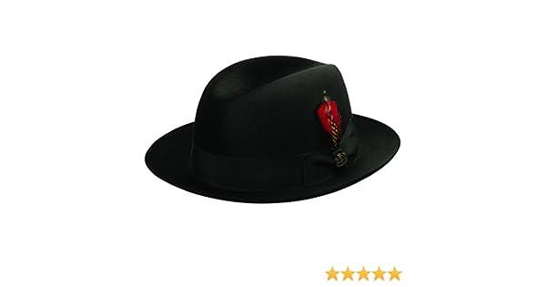8e2f2403b0f6a1 Biltmore Chicago Fur Felt Fedora Hat at Amazon Men's Clothing store: Fedoras