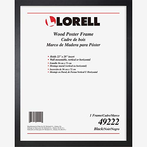- Lorell Solid Wood Poster Frame, 22