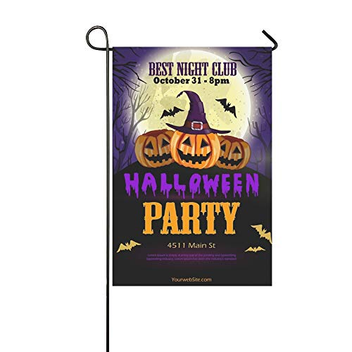 WBSNDB Home Decorative Outdoor Double Sided Halloween Party Flyer Pumpkins Garden Flag,House Yard Flag,Garden Yard Decorations,Seasonal Welcome Outdoor Flag 12 X 18 Inch Spring Summer -