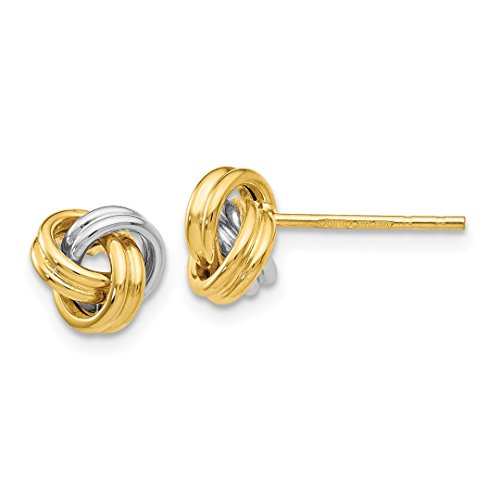 ICE CARATS 14k Yellow Gold Love Knot Post Stud Ball Button Earrings Fine Jewelry Gift Set For Women Heart by ICE CARATS (Image #3)