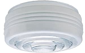 Westinghouse Glass Drum 11 In. Dia 10 In. Fitter Clear, White
