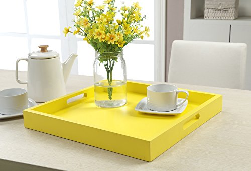 Convenience Concepts Palm Beach Serving Tray, Yellow