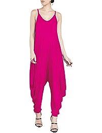 1a008918235a Women s Punk Spaghetti Strap Jumpsuit V Neckline Comfy Loose Harem One  Piece Romper