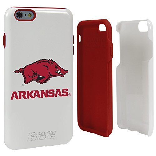NCAA Arkansas Razorbacks Hybrid Case for iPhone 6 Plus, White, One Size (Phone Case Razor White Cell)