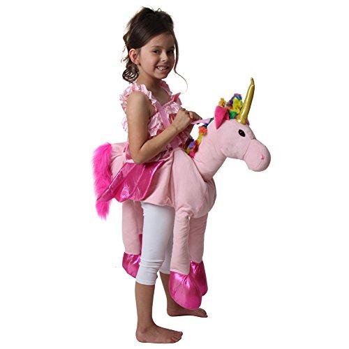 Rainbow Ride On Plush Unicorn Costume