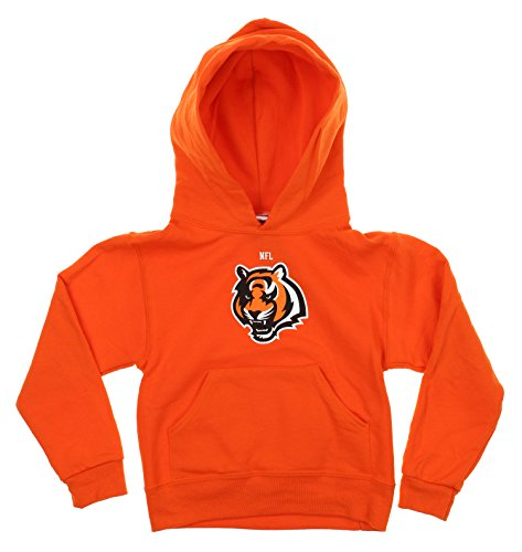 Reebok NFL Little Boys Toddlers Team Logo Pullover Hoodie, Cincinnati Bengals ()