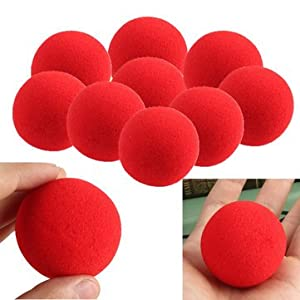 20Pcs Close-Up Magic Street Trick Soft Sponge Ball Props Clown Nose