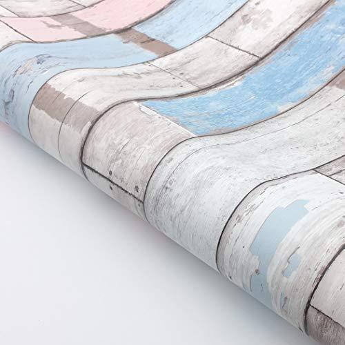 (RoyalWallSkins Decorative Self-Adhesive Scrapwood Wallpaper Carrara, Contact Paper Shelf Liner Dresser Drawer Cabinet Sticker (WPSH01507: 19.6