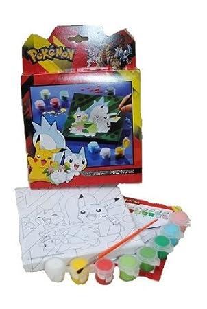 Unbekannt Pokemon Bastelset Malen Nach Zahlen Malset