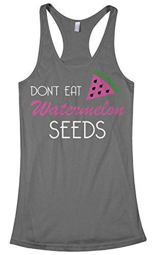 Threadrock Women's Don't Eat Watermelon Seeds Racerback Tank Top XL - Specs Baby Cute With