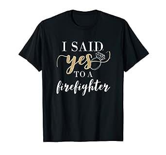 Amazon.com: I Said Yes - Camiseta para mujer, diseño de ...