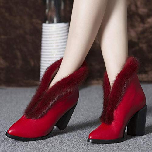 Red Martin Alto Stivali Autunno Caldo Stivali Appuntito Tacco Bare Sexy Stivali Stivali Donne Stivali Donna aqp6anT