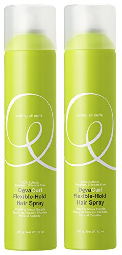 DevaCurl Flexible Hold Hair Spray 10 oz (Pak of 2)