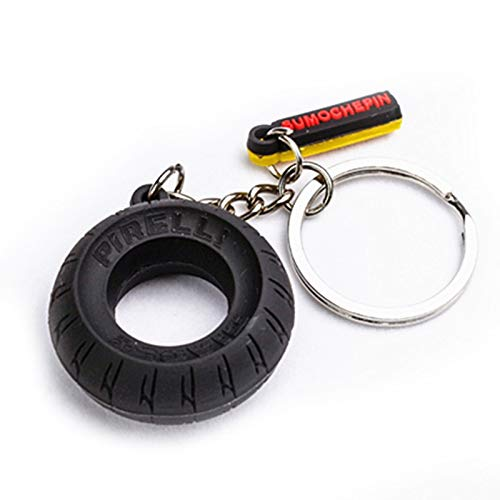 In Box Car Tyre Keychain Motorcycle Assistant Decoration Key Ring Tire Keyring Key Ring Keyfob Rubber Auto Car Interior Decoration