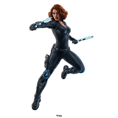 Avengers Age of Ultron, Black Widow with Blue Electric Weapons on White Background 8 X 10 Inch Photo