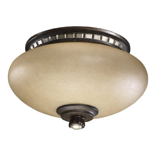 Quorum 2288-9124, Amber Scavo Glass Light Kit, Antique (Antique Flemish Ceiling Fan)