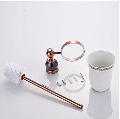 WEIYU Toilet Brush Holder Contemporary Brass 1 Pc - Hotel Bath
