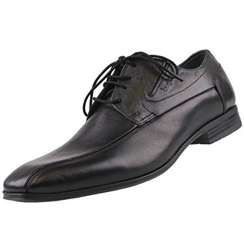 bugatti - Botas de cuero para hombre negro negro