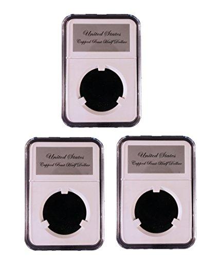 (3 Pak Little Bear Elite Certified-Style Coin Holder for Early Capped Bust Half Dollars 1807 - 1836 Lettered Edge)