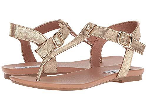 Steve Madden Women's Delray Flat Sandal Platinum 8 M US (Womans Gold Thong Sandals)