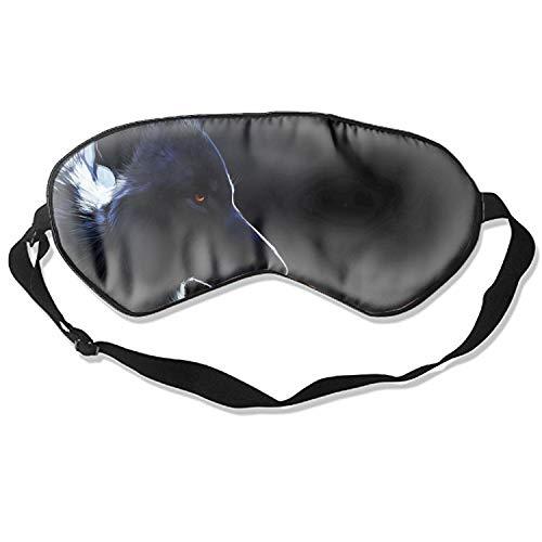 Wolf Art Animals Sleeping Eye Mask Sleep Blindfold Cotton Soft Cooling Eyeshade for Travel Home Office Rest