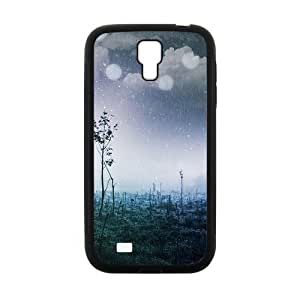 Raining Wild Field Fashion Personalized Clear Cell Phone Case For Samsung Galaxy S4 by lolosakes
