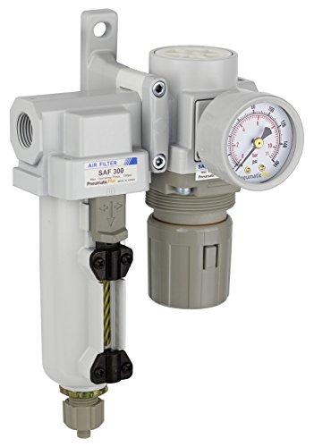 "PneumaticPlus Compressed Air Filter Regulator 1//2/"" NPT SAU4020M-N04G-MEP R"