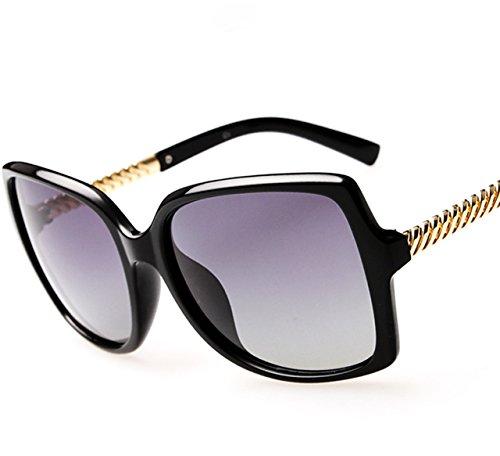 ATTCL® 2015 Fashion Women Polarized Vintage Oversized Sunglasses,1504-Black