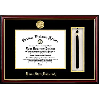 Image of Campus Images Boise State University 11 x 8.5 Inches Tassel Box and Diploma Frame Diploma Frames