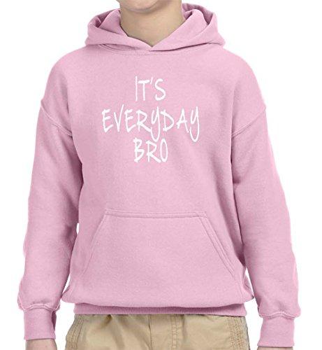 Team Kids Hoodie - New Way 764 - Youth Hoodie It's Everyday Bro Jake Paul Team 10 Unisex Pullover Sweatshirt Medium Light Pink