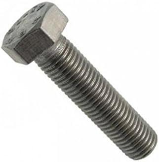 DIN571 AERZETIX Juego de 10 Cabeza hexagonal Tirafondo Tornillos para madera 6 lados C44573 Bricolaje Acero galvanizado M7x110mm Metal