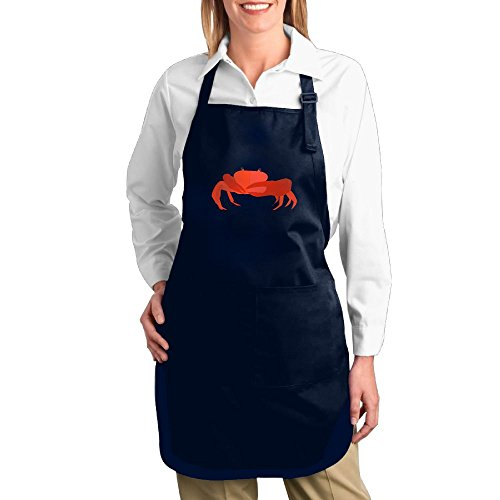Fat Girl Costume Walmart (Dogquxio Cartoon Crab Kitchen Helper Professional Bib Apron With 2 Pockets For Women Men Adults Navy)