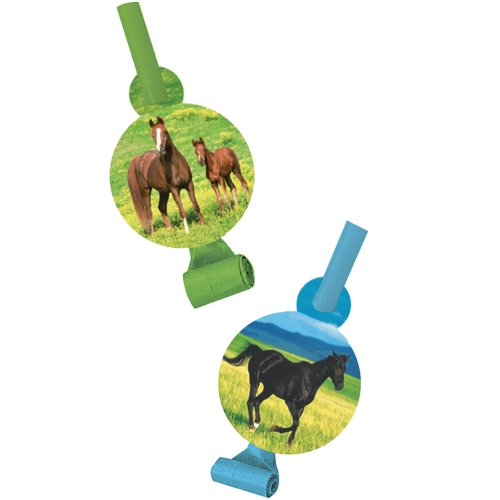 Creative Converting Wild Horses 8 Count Blow Out Noise Maker