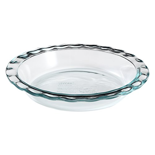 Pyrex Easy Grab 9.5 inch Glass Pie Plate, 6 Pack