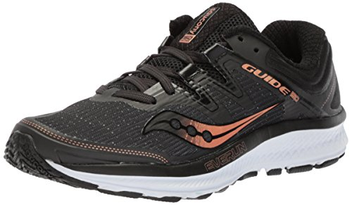 Saucony Women's Guide ISO Running Shoe, Black/Denim