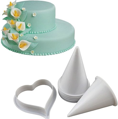 - Joinor Cake Flower Making Kit Gumpaste Flowers & The Easiest Calla Lily Former Cutter Sugarcraft Decorating Set of 7