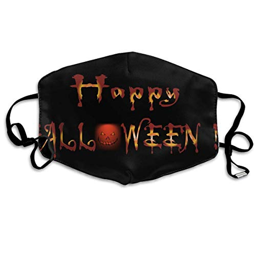 SOADV Mouth Masks Anti Dust Face Mouth Cover Mask Dark Happy Halloween Anti Pollution Face Mask ()