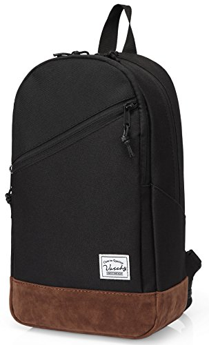 Convertable Bag (Sling Bag,Vaschy Mini Backpack Two Ways to Carry Adjustable Covertable Crossbody Chest Small Backpack)