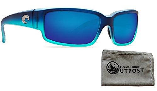 Costa del Mar Caballito Blue Mirror 580P Matte Caribbean Fade Frame Sunglasses w/ - Eyewear Caribbean Sun