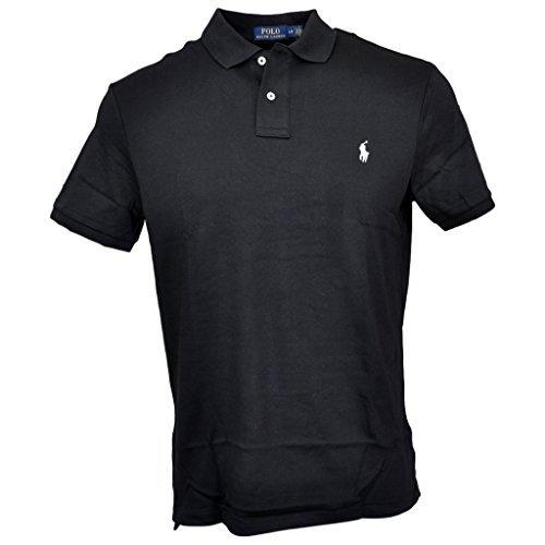 (Polo Ralph Lauren Men Medium Fit Soft Touch Polo Shirt, Polo Black, XL)