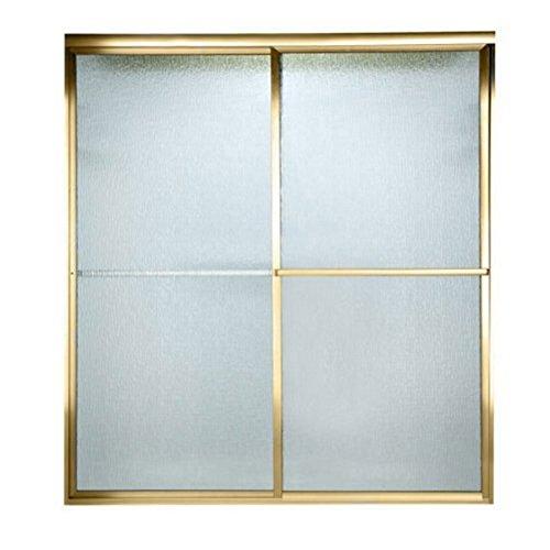 UPC 033056758052, American Standard AM00750422.094 Prestige Framed By-Pass Bath Doors with Rain Glass, Gold