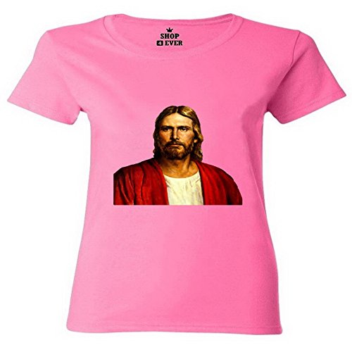 LucyLucy Rule Jesus Painting Fashion Seal Lightweight Comfort Short Sleeve Women T-shirt Size S