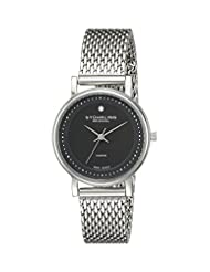 Stuhrling Original Women's 734LM.02 Classic Ascot Casatorra Elite Swiss Quartz Genuine Diamond Stainless Steel Mesh Bracelet Watch