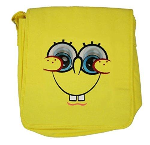Spongebob Schwammkopf–Groß Gelb Glitter Tasche mit Linsenraster beweglichen Augen Schule Tasche 0iNuzAb59e