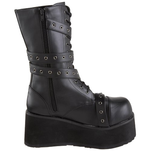 Demonia Trashville-205 - Botas Hombre Negro (Negro (Blk Vegan Leather))
