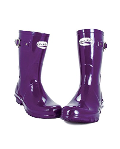 Wellies Purple Ladies 8 Delivery Finish Natural 12 Guarantee Boots Rubber And Foot Award Cushioned Size Gloss Free Month including Winning Bed 3 Rockfish Short Grape TxqYXt4