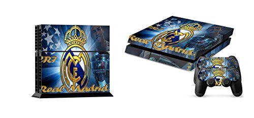 (BEST DESIGN FC Real Madrid Super Team. Cristiano Ronaldo and over real football STARS PS4 Skin Sticker for Sony PlayStation 4 System (European Cup/UEFA Champions League) )